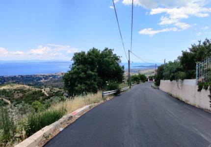 Ανακατασκευή Ασφαλτοτάπητα στις Καρυές Χίου
